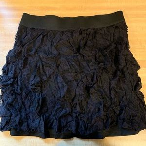 Black lace skirt from Maurice's